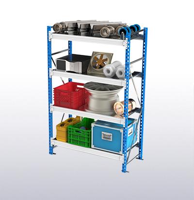 Стеллажи металлические грузовые с нагрузкой на полку до 450 кг